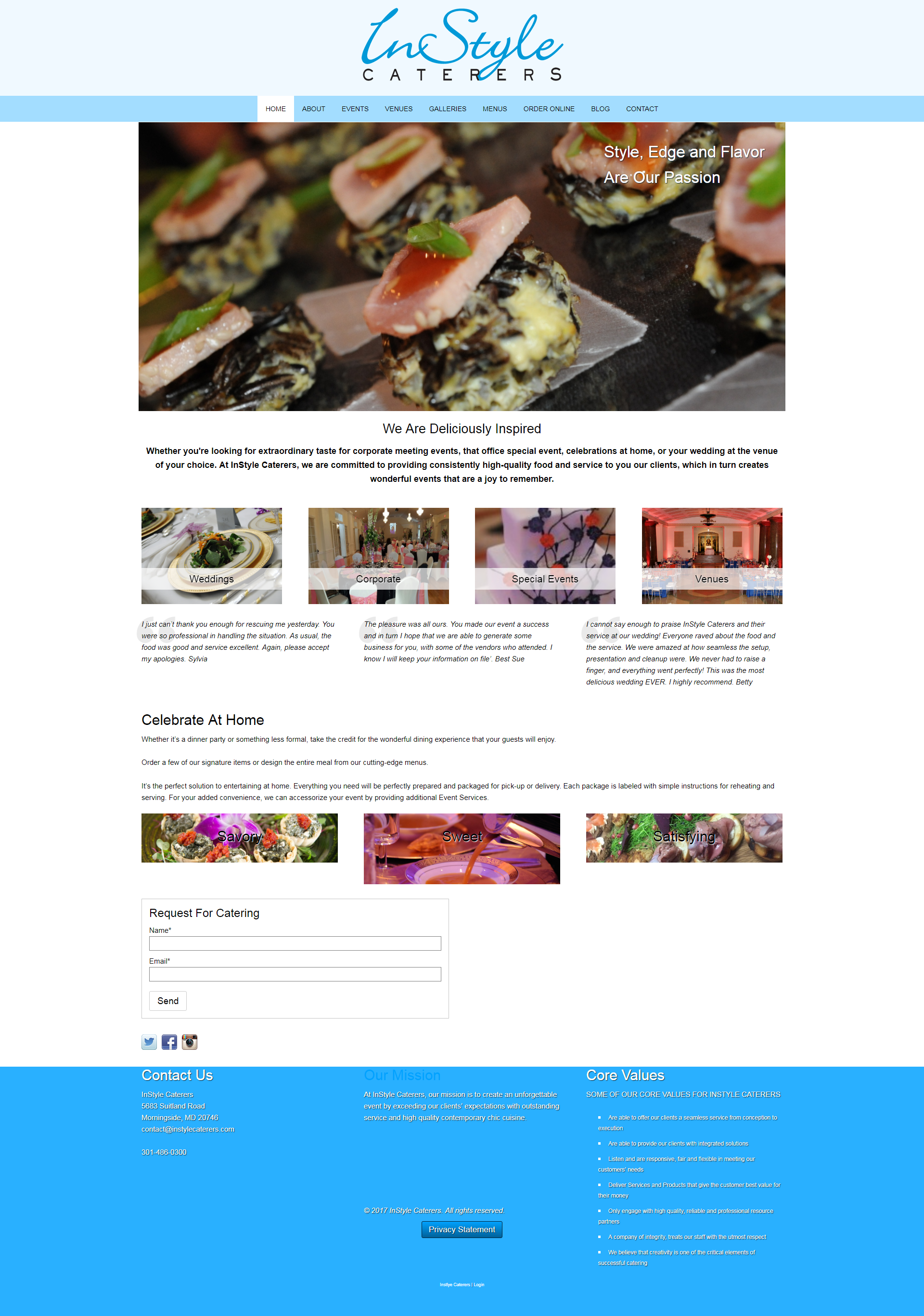 Instlye Cateres